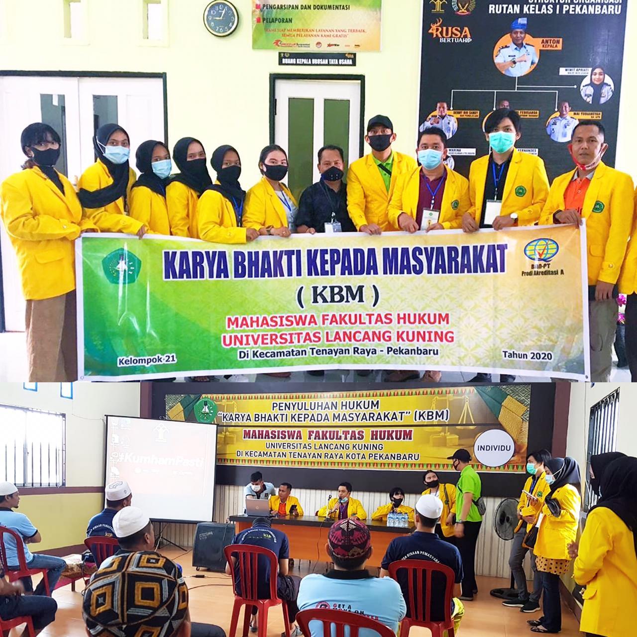 Mahasiswa Fakultas Hukum Unilak yang Tergabung Dalam Kelompok 21 Lakukan Penyuluhan Hukum