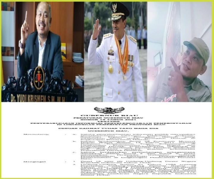 Disinyalir Takut Pers, Gubernur Riau Diduga Bungkam Insan Pers Lewat Pergub !