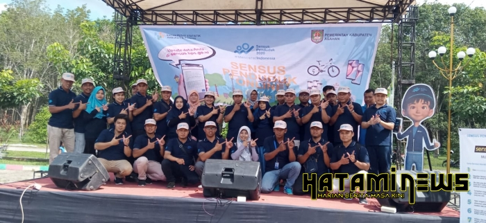 BPS Asahan Gelar Sensus Penduduk Online On Car Free Day Tahun 2020