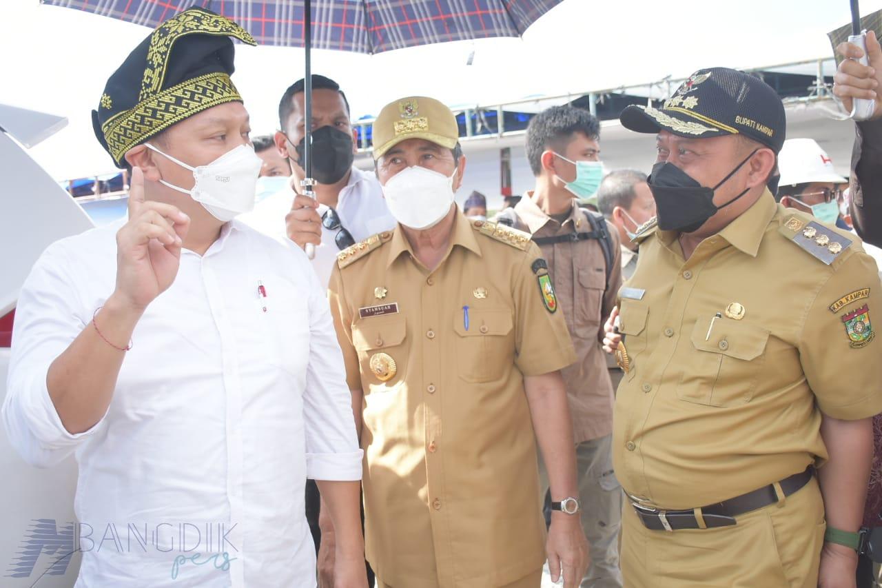 Bupati Sambut Wamen ATR/BPN Ke Kampar, Masyarakat Minta Segera Tuntas