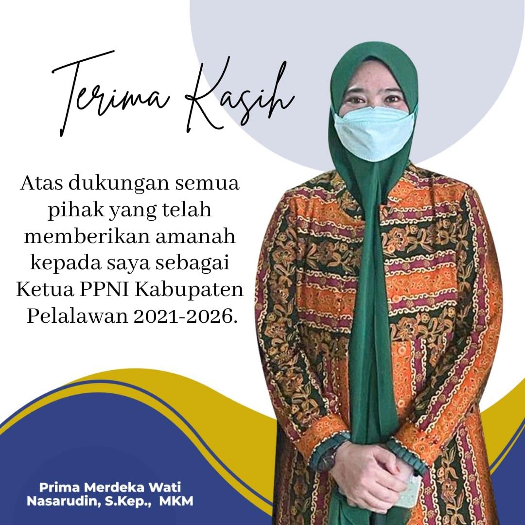 Prima Merdekawati Dilantik sebagai Ketua DPD PPNI Kabupaten Pelalawan periode 2021-2026