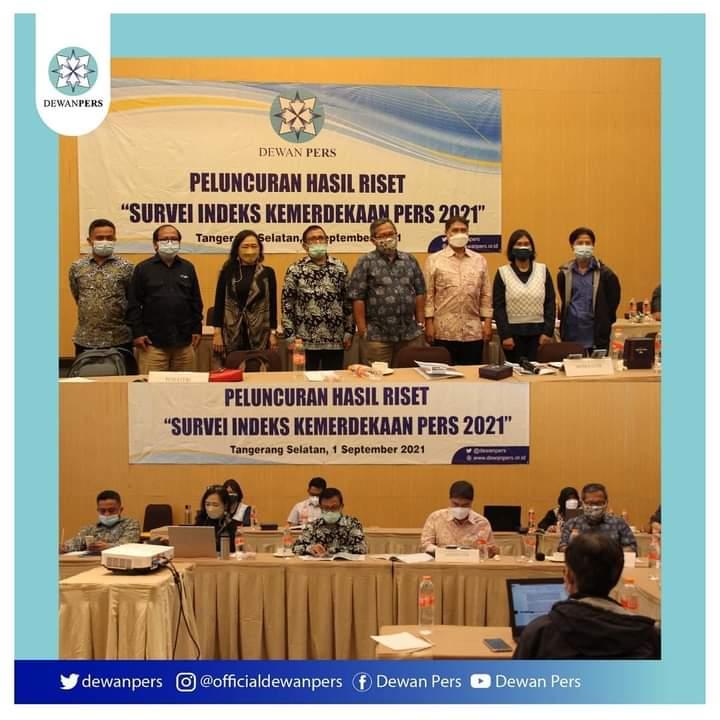 Indeks Kemerdekaan Pers 2021, 350 Peserta Ikuti Peluncuran se-Indonesia