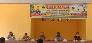 Perangkat Desa Talau Adakan Sosialisasi Perbup terkait Covid 19