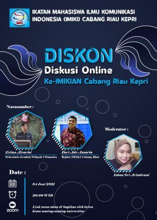 IMIKI Cabang Riau Kepri Gelar Diskusi Online ke-IMIKI-an Cabang Riau Kepri