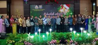 Polres Rohil Bersama Umat Kristiani Gelar Perayaan Natal Oikumene